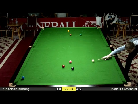 Snooker Men Groups : Shachar Ruberg vs Ivan Kakovskii