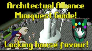 OldSchool Runescape - Architectual Alliance Miniquest & How to lock your Zeah Favour