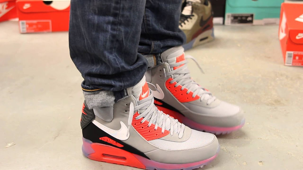 air max 90 sneakerboot ice