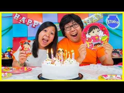 RYAN'S WORLD Happy Birthday Party + Surprise Toys!!!