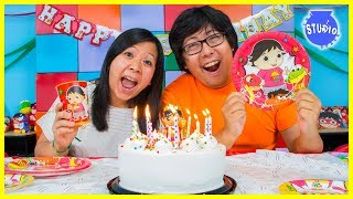RYAN'S WORLD Happy Birthday Party + Surprise Toys!!!