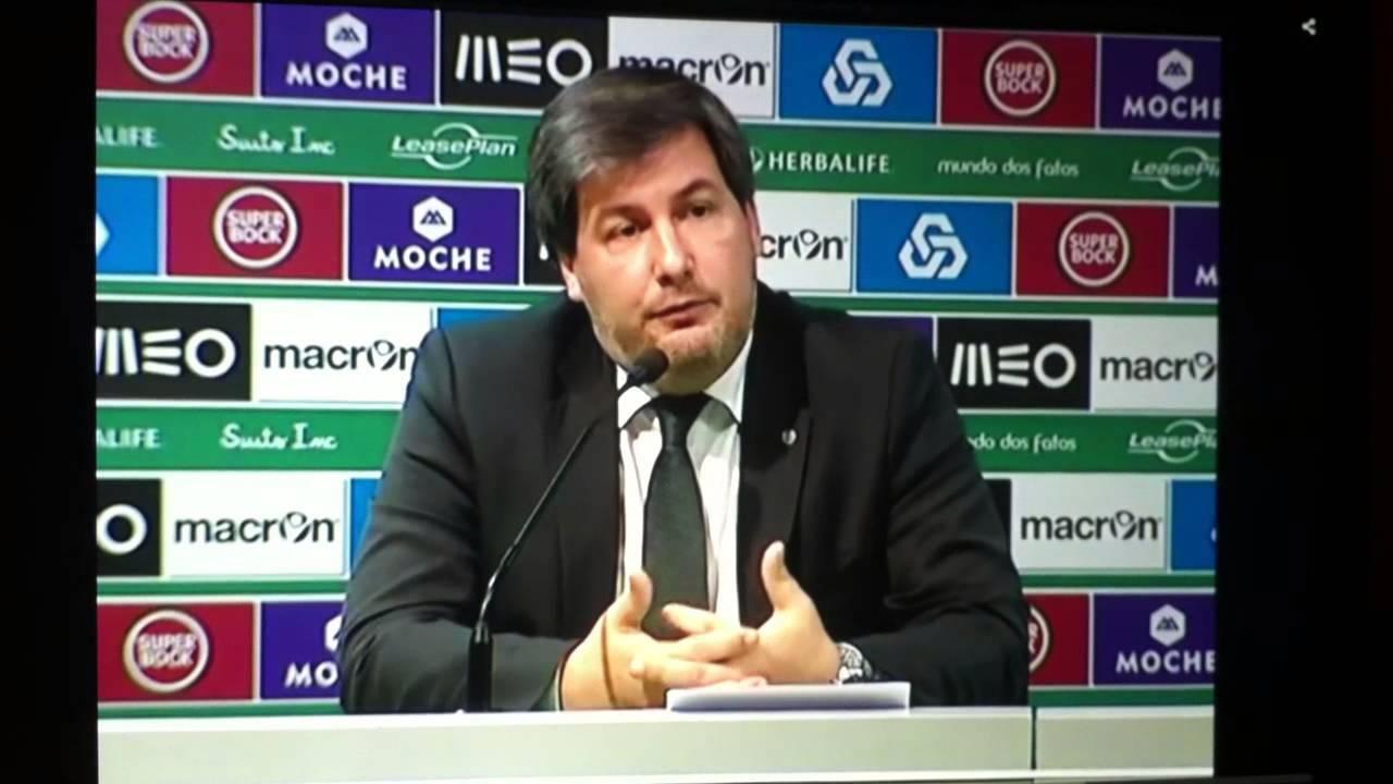 Ishak BELFODIL... Bruno De Carvalho,presidente Do Sporting