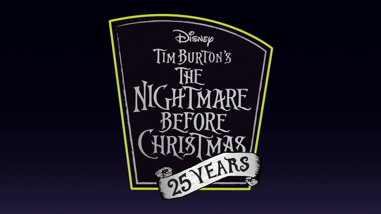 This is a graphic of Stupendous The Nightmare Before Christmas Logo
