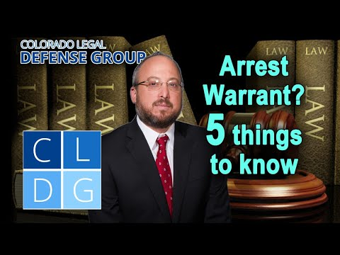 Arrest warrants in Colorado – 5 things to know