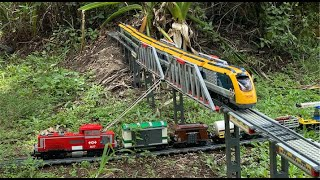 2020 Awesome Lego Train Set in the Garden and House