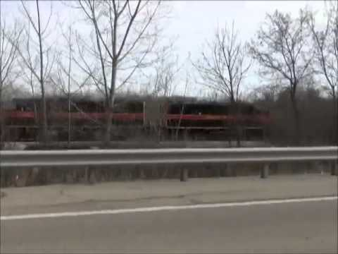 """EMD GP-38-2 """"Iowa Interstate"""" leaving Bureau, Illinois"""