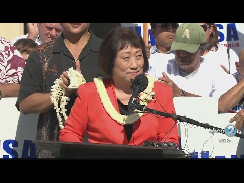 Hanabusa formally launches campaign for governor
