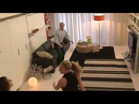 Letto divano a scomparsa swing home office poppi theatre - Clei divano letto ...