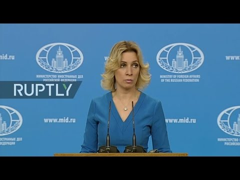 LIVE: Russian FM spokesperson Zakharova holds press briefing in Moscow - English