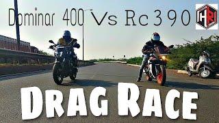 Ktm Rc390 2017 Vs Dominar 400    Drag Race    Horizon Riders