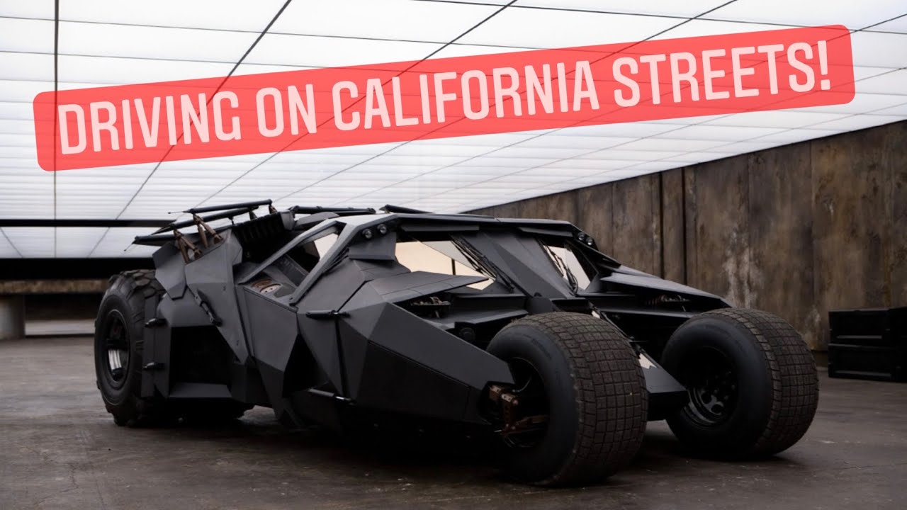 Driving the Batman Tumbler!!!