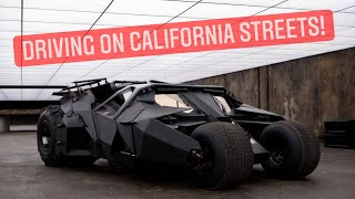 homepage tile video photo for Driving the Batman Tumbler!!!