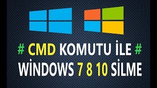 Windows 10 Format atmadan Silme CDM komutu ile