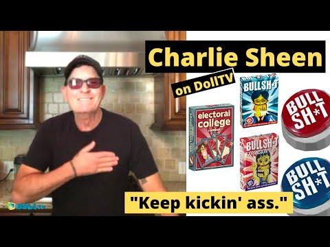 """Charlie Sheen to DollTV:   """"Keep kickin' ass."""""""