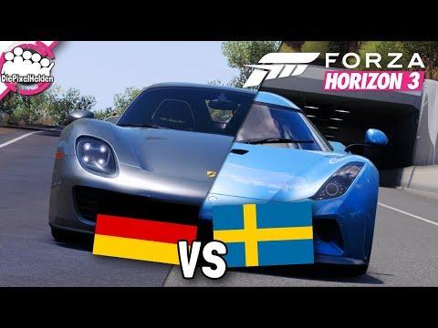 FORZA HORIZON 3 - DEUTSCHLAND vs SCHWEDEN - Forza Horizon 3 MULTIPLAYER