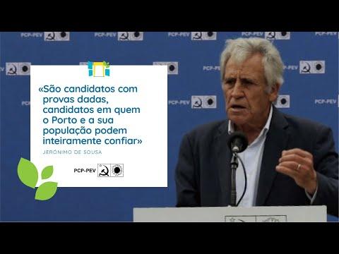 Jerónimo de Sousa: Apresentação da Candidatura da CDU à Câmara Municipal do Porto