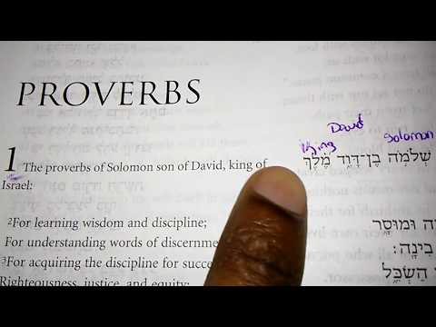 Proverbs 1:1 Translation Hebrew To English