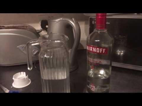 Homemade Candy Cane Vodka