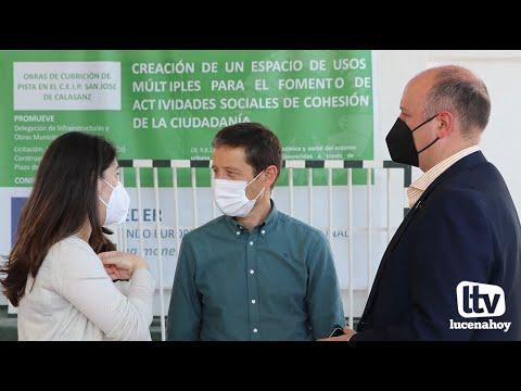 VÍDEO: Concluyen las obras de cubrición de una de las pistas del colegio San José de Calasanz