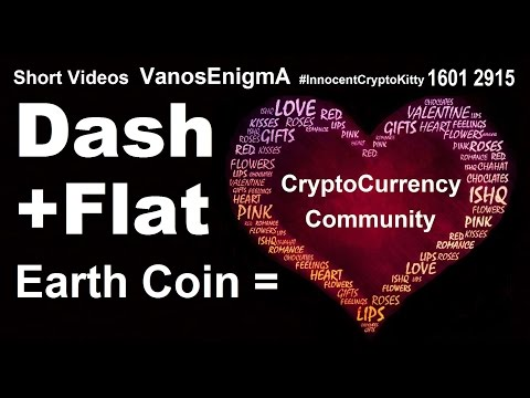 16012915 CryptoCurrency Dash Flat Earth Coin Community Blockchain Bitcoin Love Heart Art Funny Money