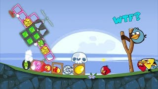 Bad Piggies - ANGRY BIRDS MAD AT NINJA PIG GOLDEN EGG INVENTIONS