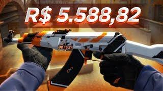 NOVA AK-47 ASIIMOV por R$ 5.588,82 no CSGO! (valores absurdos)