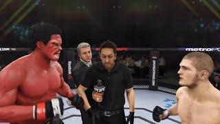 Red Hulk vs. Khabib (EA Sports UFC 3) - CPU vs. CPU