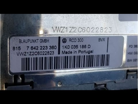 vw rcd 300 radio code vwz1z2c unlock serial radiocode. Black Bedroom Furniture Sets. Home Design Ideas
