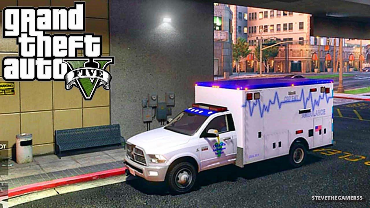 GTA 5 - Rescue Mod V - PARAMEDIC 5 - (GTA 5 Rescue Mod PC MODS)