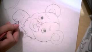 High Speed Teddy Bear Birthday Drawing