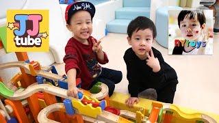 [뉴욕이랑 놀자 & JJ tube] 펀토리 하우스 키즈카페에서 첫번째 콜라보 찍다.Indoor playground Collaboration [제이제이튜브 - JJ tube]