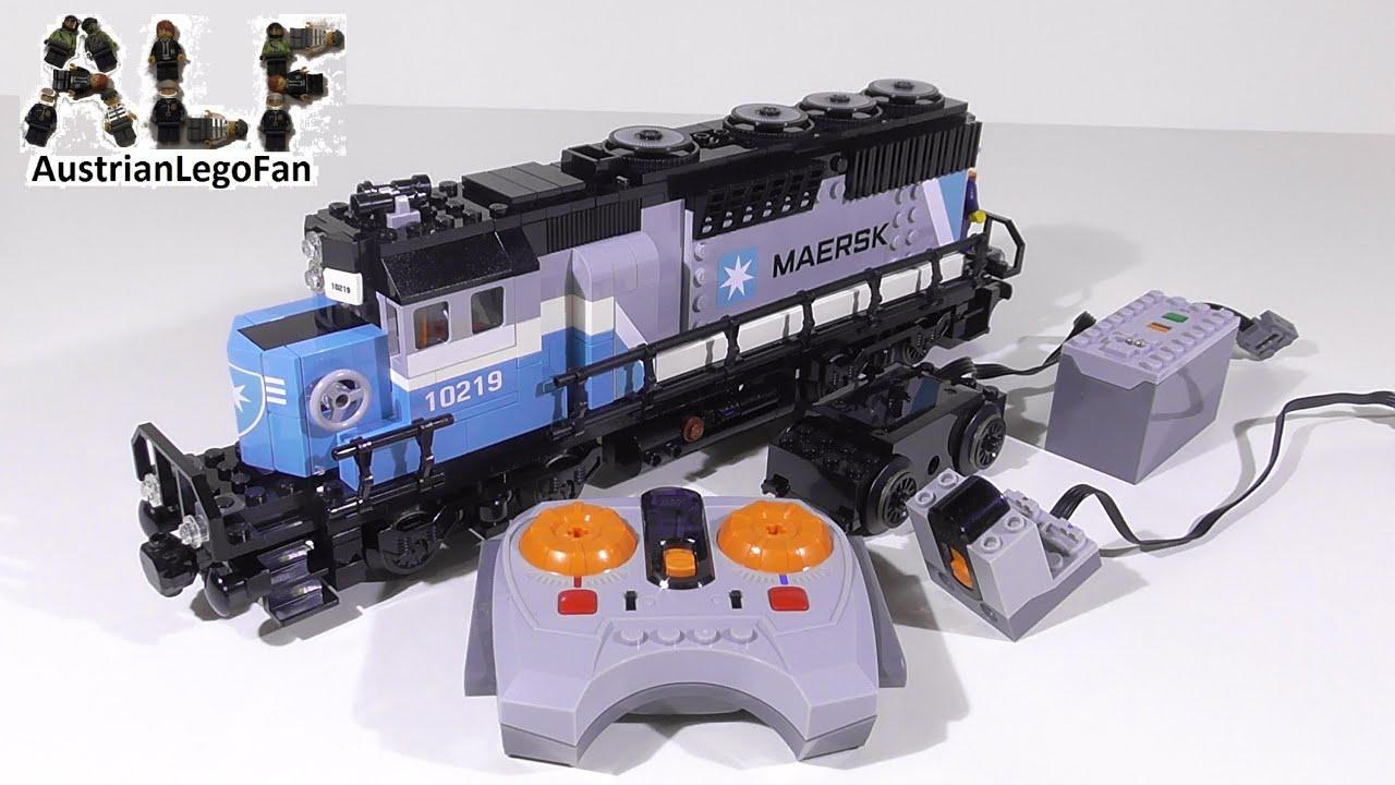 Motorizing Lego 10219 Maersk Train Lego Fun Review Youtube