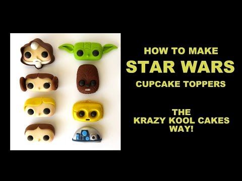 Star Wars Cupcake Toppers FUN HOW TO!