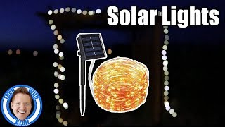100 Solar Powered LED String Lights Review