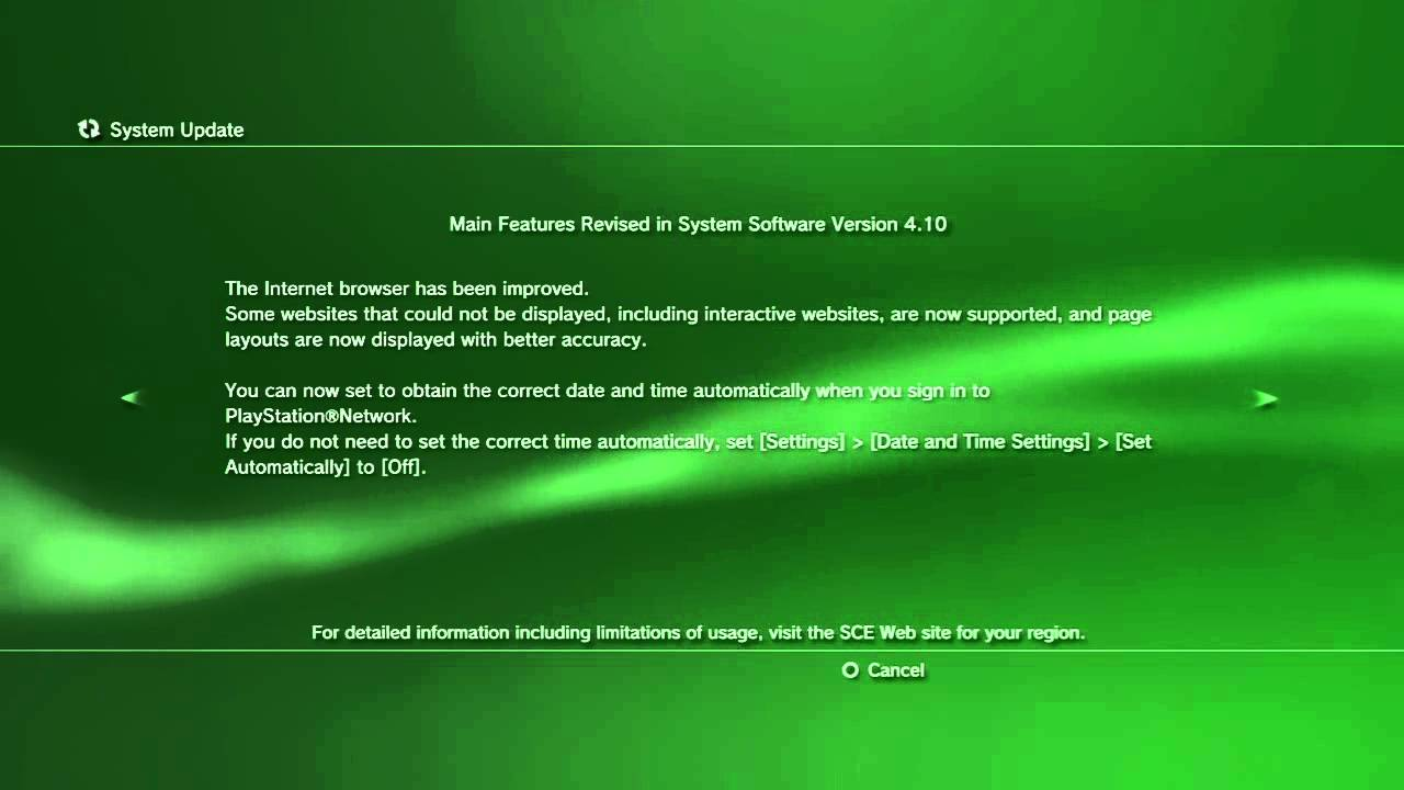 Ps3 not system updating