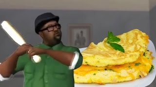 Big Smoke orders an Omelette du Fromage