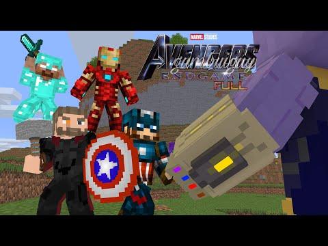 Monster School : AVENGERS ENDGAME FULL- Minecraft Animation