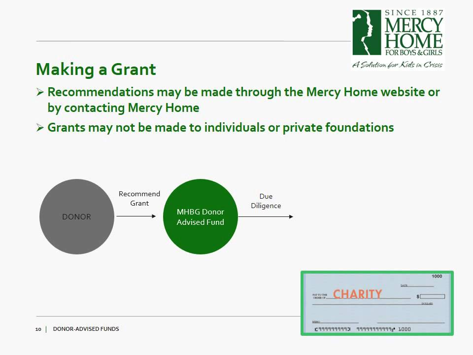 Donor Advised Fund | Mercy Home for Boys & Girls