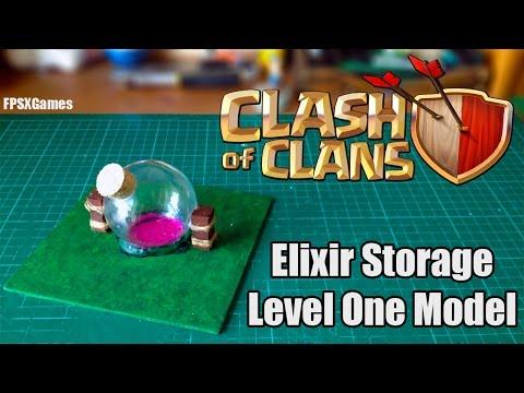 Clash of Clans Elixir Storage Model