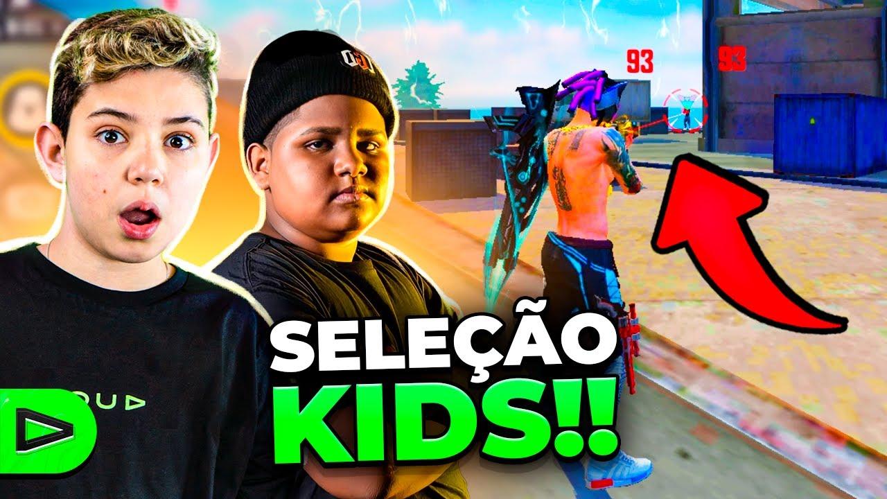 THURZIN FEZ A SELEÇÃO KIDS DO FREE FIRE!