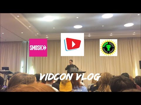 Vidcon vlog Amsterdam 2018 | meeting smosh, and  game theory!