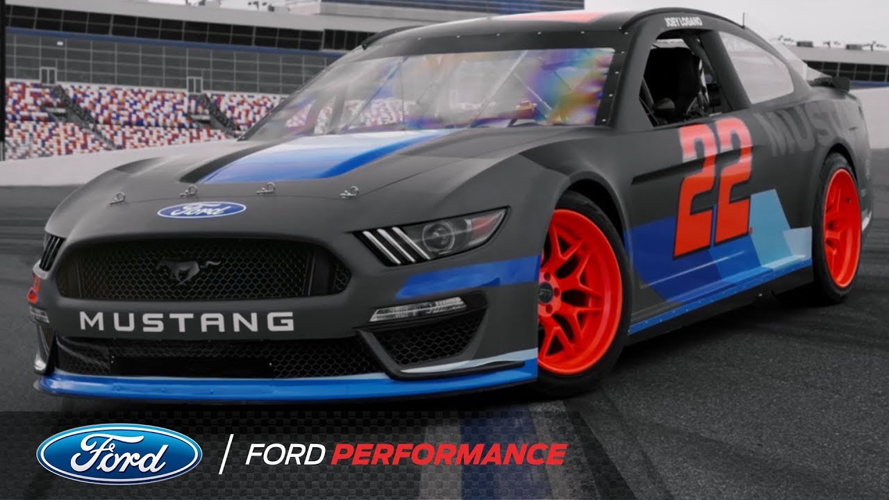 Vaughn gittin jr and joey logano drift the nascar mustang ford performance