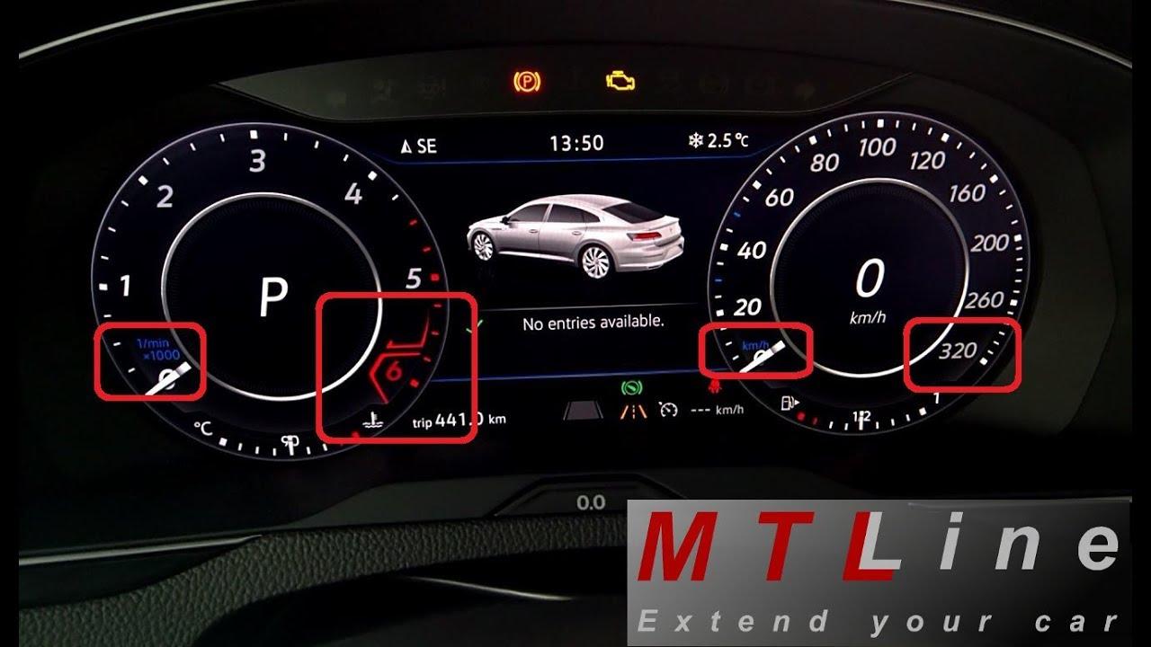 2018 Golf R >> VW Arteon, MY2018 - 320km/h speedometer graphics ...