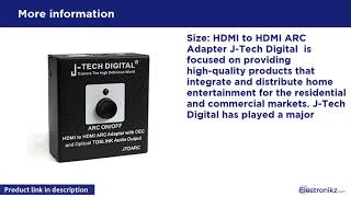 J-Tech Digital HDMI to HDMI ARC Adapter with CEC a Overview