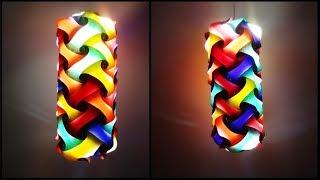 Paper Crafts | Diwali decoration ideas | Beautiful Multicoloured Lantern | DIY Cylindrical Lantern