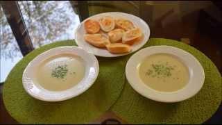 Луковый суп-пюре с сыром