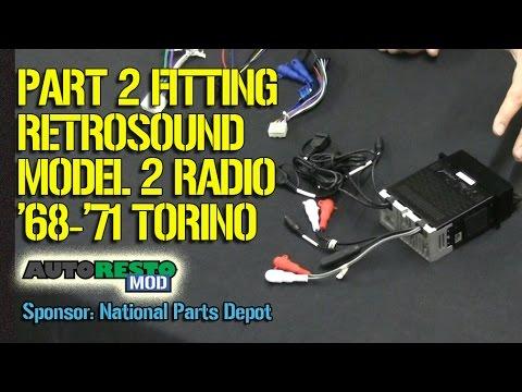 Part 2 Retrosound Install Tips and Tricks Fairlane Episode 257 Autorestomod