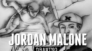 Drawing: Jordan Malone (US Olympic Speed Skater)