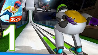 Ski Jumping 2021 - Gameplay Walkthrough Part 1 (Android,iOS)