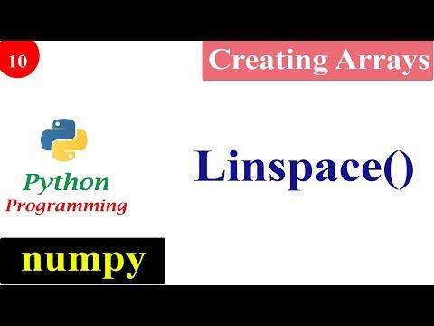 NumPy Linspace Function | Creating NumPy Arrays | Python Tutorials thumbnail